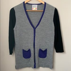 Clements Ribeiro Button Front Cardigan Size Small